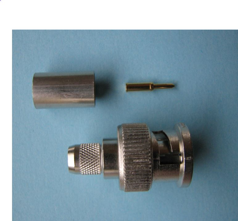 DER KOAXSHOP - BNC Crimp Kabelstecker G27, 75 Ohm, für 1.0/4.6